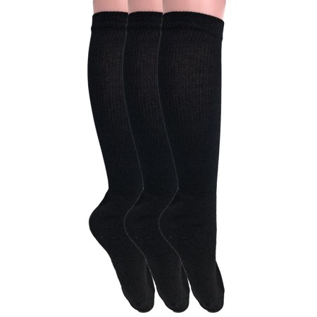 Over The Calf Socks for Men and Women Black 3 PAIRS Boot Socks Made in (Over Calf Boot Socks)