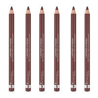 (6 Pack) Rimmel 1000 Kisses Stay On Lip Liner,Coffee Bean, 041,0.04 Ounce