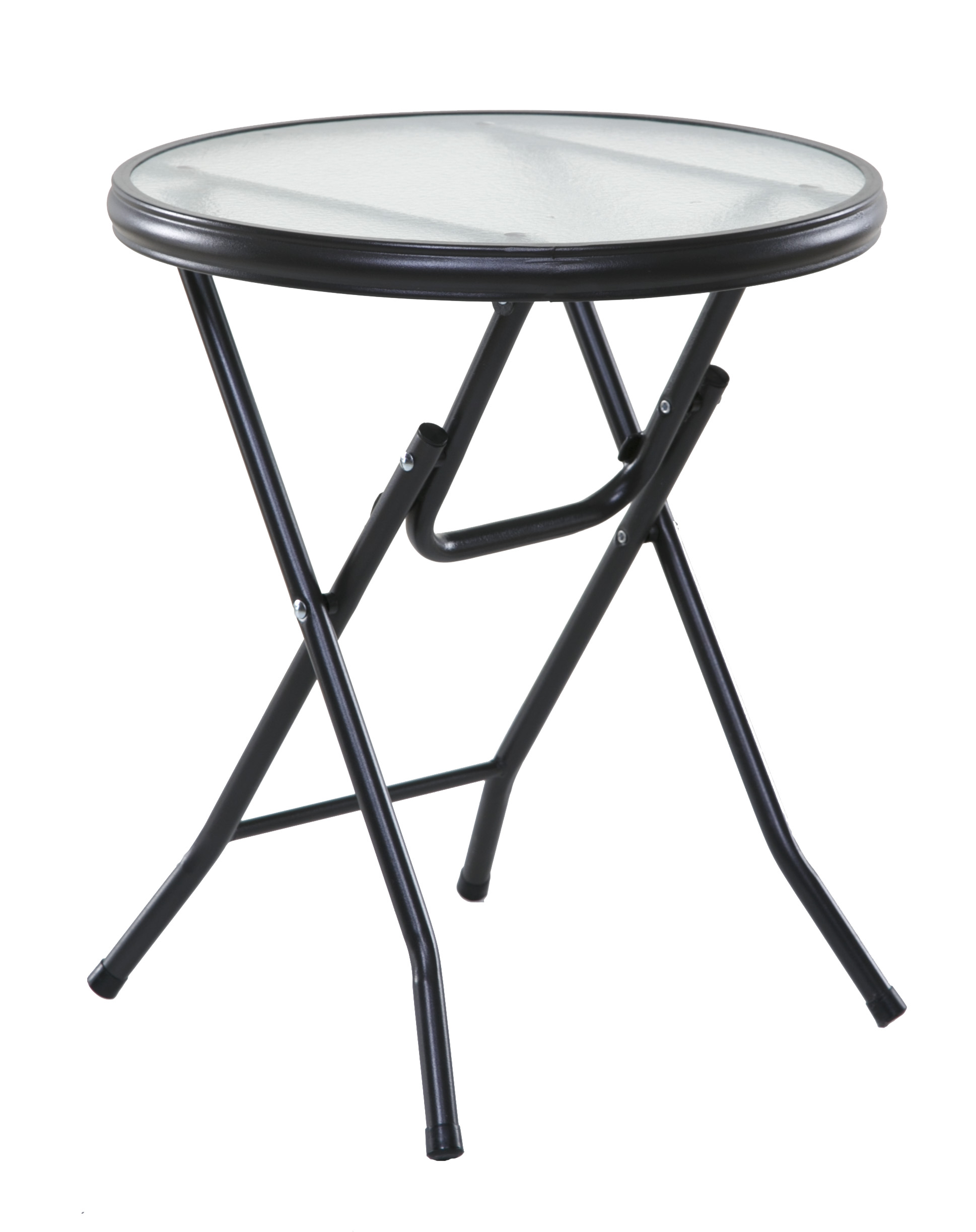 Onespace Basics 16 Round Folding Side Table Clear Walmart Com