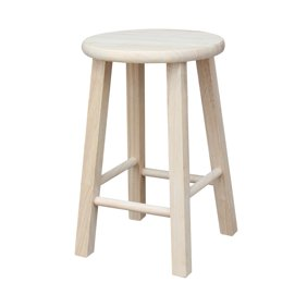 Surprising Mainstays Fully Assembled 24 Natural Wood Bar Stool Caraccident5 Cool Chair Designs And Ideas Caraccident5Info