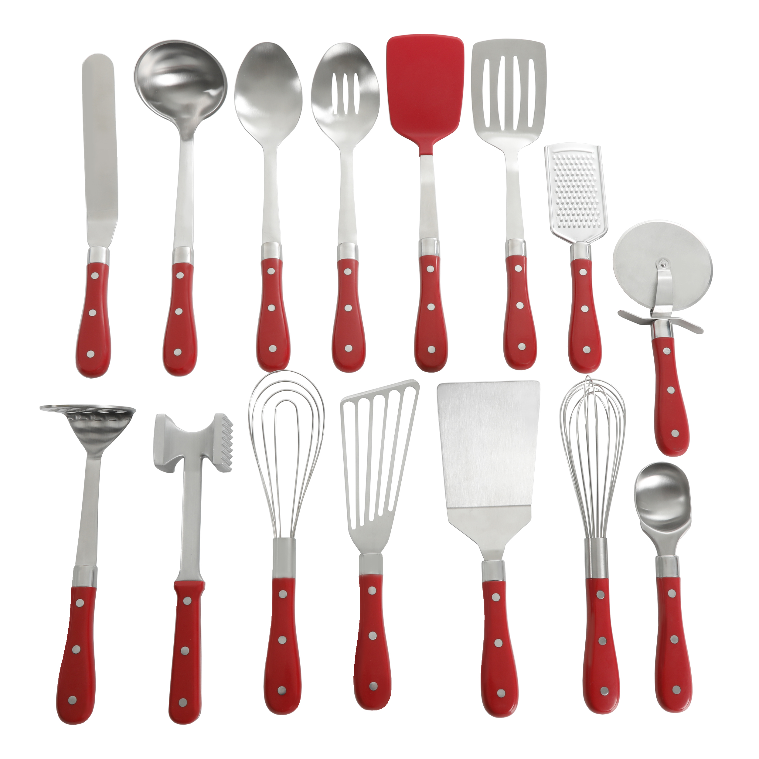 The Pioneer Woman Frontier Collection 15-Piece All In One Kitchen Utensil Set, Multiple Colors