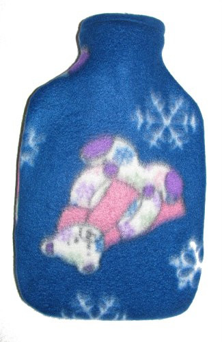 Warm Tradition WINTER BEAR Fleece Covered Hot Water Bottle Bottle made in Germany. Cover made in USA. by