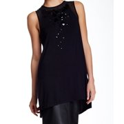 Olivia Sky NEW Black Embellished Front Women's Size Small S Tank Top