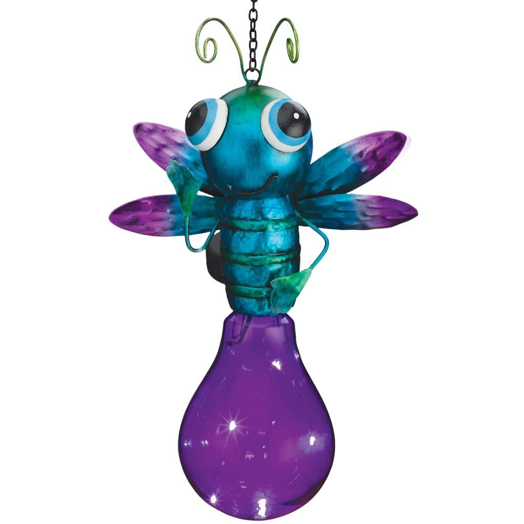 "Regal Art  and  Gift 11256 - 14"" x 6.5"" Metal Solar Firefly Lantern"