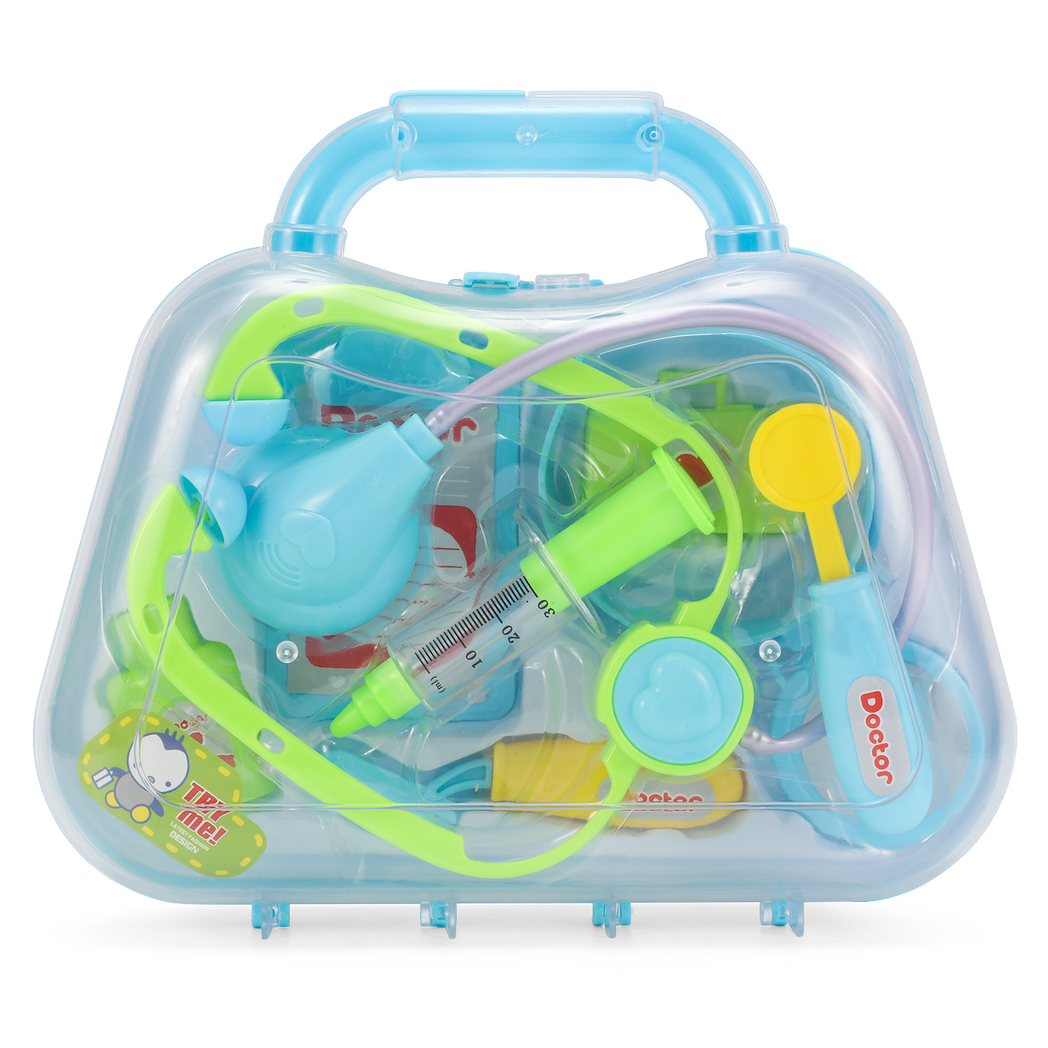 Fancynova Play Doctor Kit, Doctor Medical Kit Doctor Case Juguetes Roleplay Toy Set for Kids Children (Blue/Green /Pink)