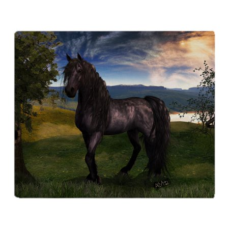 "CafePress - Freisian Horse - Soft Fleece Throw Blanket, 50""x60"" Stadium Blanket"