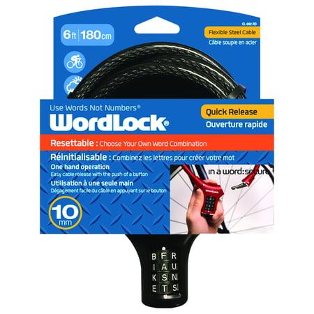 Wordlock Quik Release Bike Lock 10mm Black