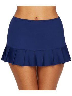 24th & Ocean Womens Solid Smoothing Swim Skirt Style-TF9G697