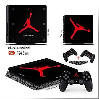0b6a9dab71c Ci-Yu-Online VINYL SKIN [PS4 Slim] Air Jordan 3 Retro Shoe Box Light Bar  Whole Body VINYL SKIN STICKER DECAL COVER for PS4 Slim Playstation 4 Slim  System ...