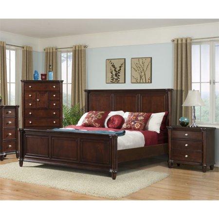 Picket House Furnishings Gavin 3 Piece King Bedroom Set in Cherry