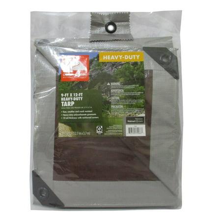Ozark Trail Weather Resistant Heavy-Duty Tarp, 9 x 12,Material PE