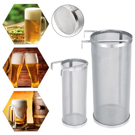 CABINA HOME Brewing 4''x10'' Hopper Spider Strainer – Stainless Steel 300 Micron Mesh Hops Beer Tea Kettle Brew Filter ()