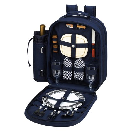 - Picnic at Ascot Bold Picnic Backpack for 2 -  Navy