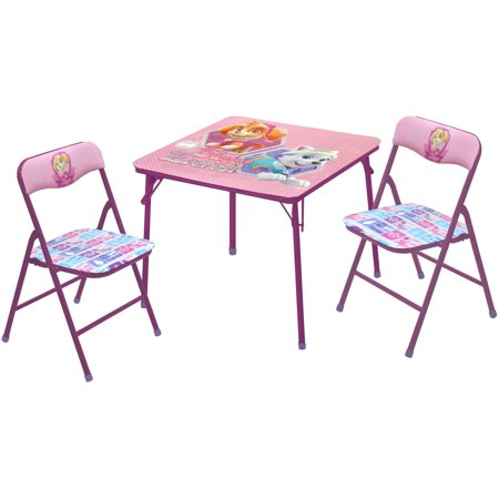 Nickelodeon Paw Patrol Girls 3Piece Table and Chairs Set – Girls Table and Chair