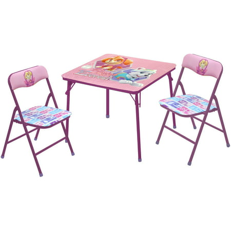 Nickelodeon Paw Patrol Girls' 3-Piece Table and Chairs Set