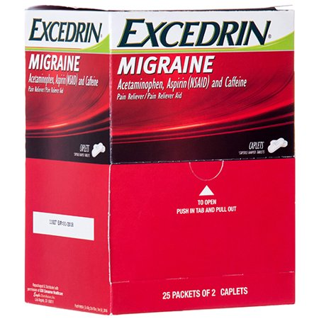 New 360142  Excedrin 25 Ct Migraine (25-Pack) Cough Meds Cheap Wholesale Discount Bulk Pharmacy Cough Meds Bud