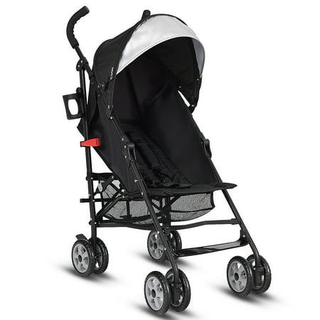 Folding Baby Toddler Travel Stroller W Canopy Storage