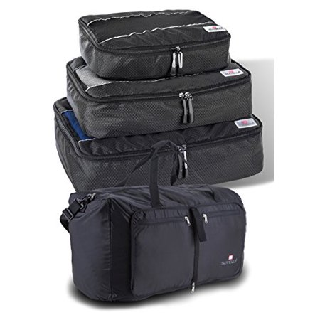 8bf614782 Suvelle 2 PC TRAVEL SET FOLDABLE DUFFEL BAG AND 3 PC SET PACKING CUBES FOR  LUGGAGE - Walmart.com