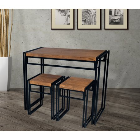 Mainstays Loft,Table Set includes a table and 2 matching stools ...