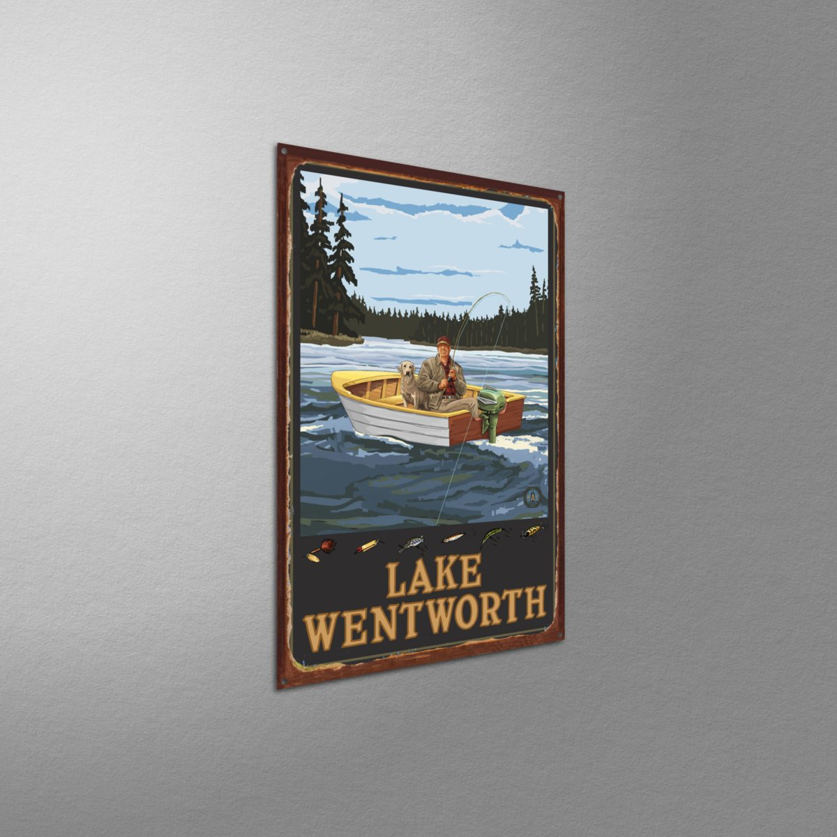 Lanquist 11 by 17-Inch Northwest Art Mall New Hampshire Fishing Wall Artwork by Paul A