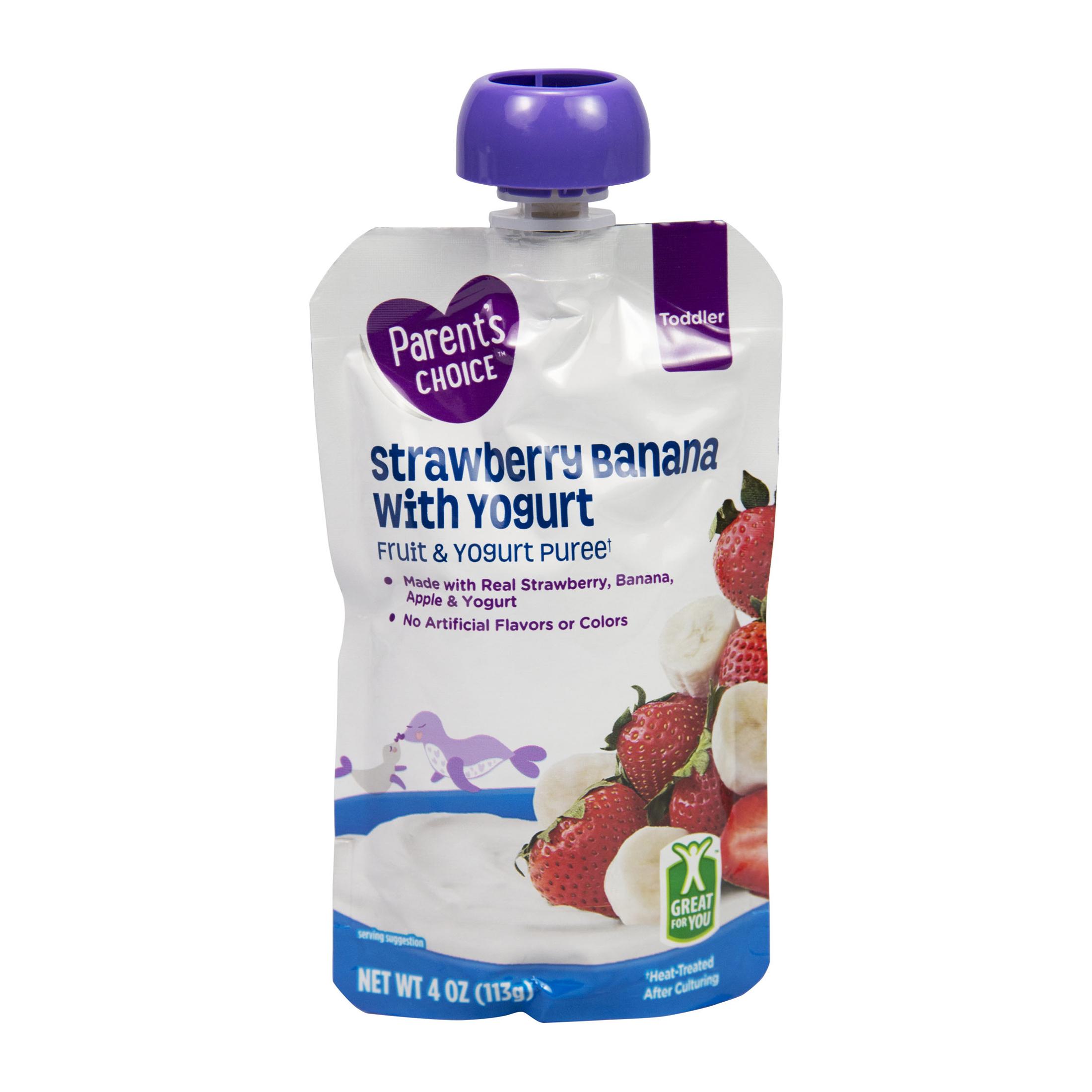 Parent's Choice Strawberry Banana & Yogurt, Stage 4, 4 oz Pouch