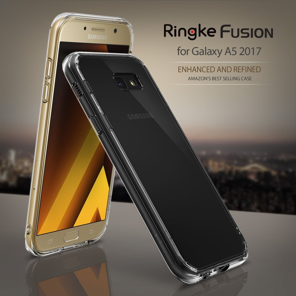 Samsung Galaxy A5 2017 Case, Ringke FUSION Crystal Clear PC Back TPU Bumper Case - Clear - Walmart.com