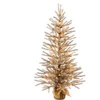 "Vickerman 36"" Mocha Artificial Christmas Tree with 50 Warm White LED Lights"