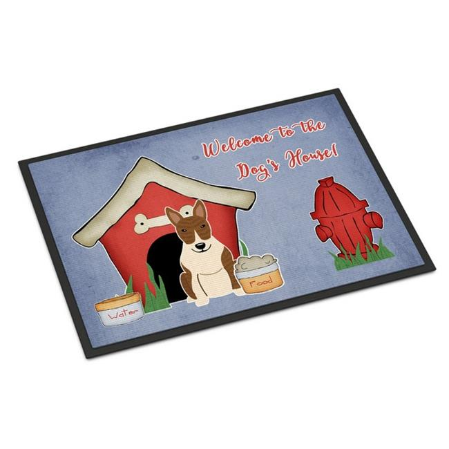 Carolines Treasures BB2891MAT Dog House Collection Bull Terrier Brindle Indoor or Outdoor Mat, 18 x 0.25 x 27 in. - image 1 de 1