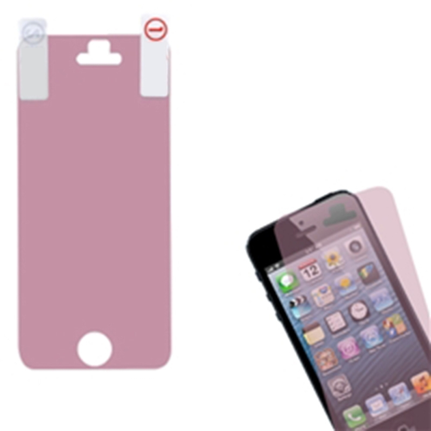 Insten Pink LCD Screen Protector Film Guard For Apple iPhone SE 5S 5C 5 5G Gen
