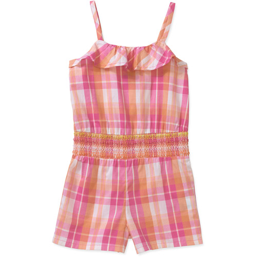 Healthtex Baby Toddler Girl Woven Plaid Romper