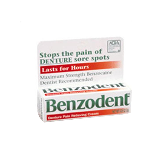 Benzodent Denture Pain Relieving Cream - 0.25 Oz,2 pack