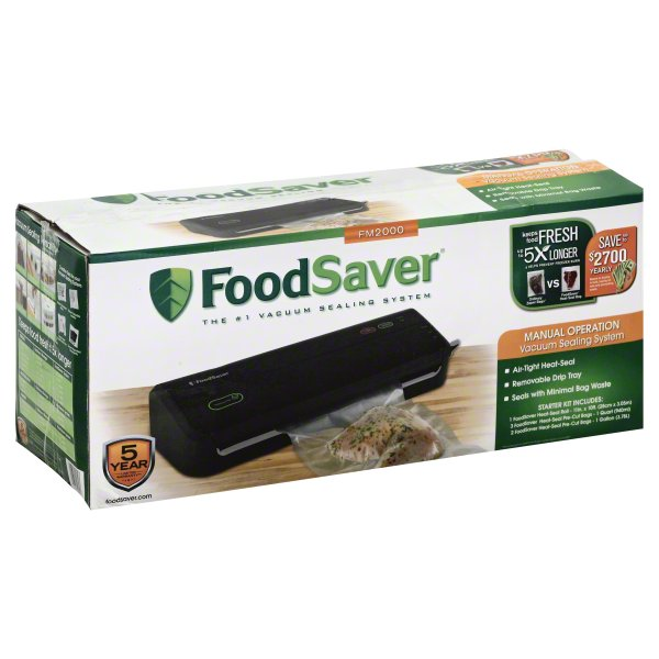 FoodSaver FM2000 Manual Operation Vacuum Sealing System, 1 system by SUNBEAM