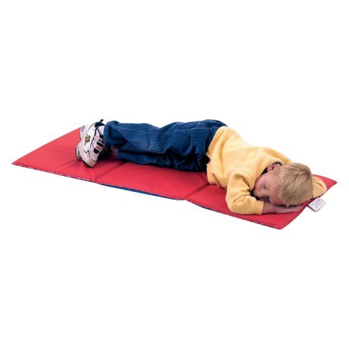 Children's Factory 3 Fold RF Sealed Infection Control Toddler Nap Mat - .75 in.