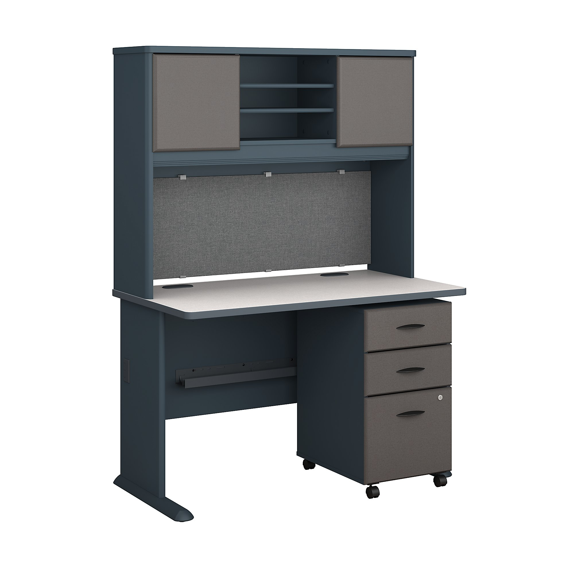 Series a returns bundles 254 lbs weight capacity engineered wood 48 w desk hutch 3 drawer mobile pedestal walmart com