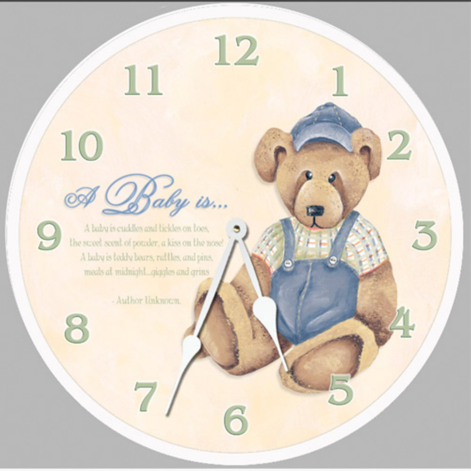 Lexington Studios Baby Bear Wall Clock