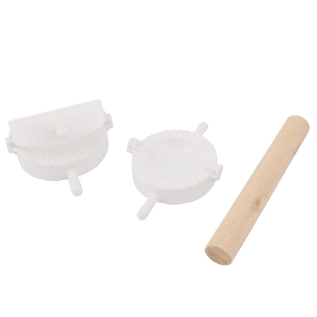 3 in 1 Dumpling Press Mold Ravioli Pierogi DIY Maker Rolling Pin Set by