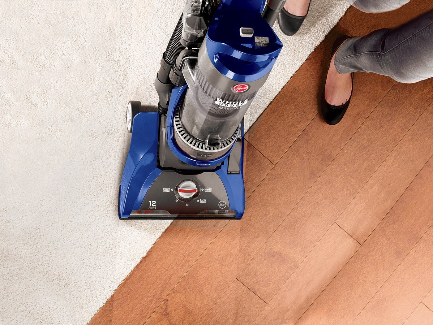 Blue New in Box Hoover Windtunnel 2 Bagless Corded Upright Vacuum UH71250