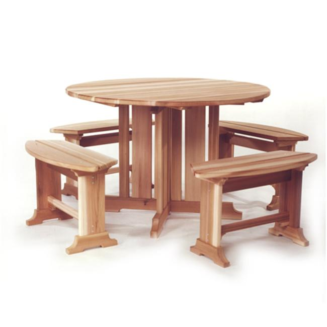 All Things Cedar RT45U Round Picnic Table Set