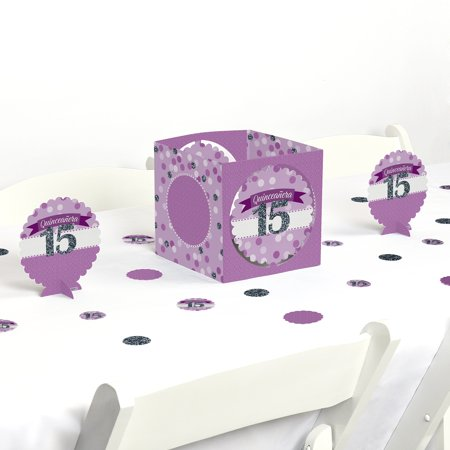 Quinceanera Purple - Sweet 15 - Birthday Party Centerpiece & Table Decoration Kit
