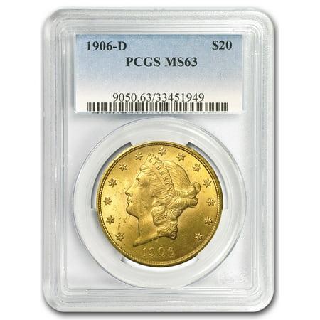 1906-D $20 Liberty Gold Double Eagle MS-63 PCGS