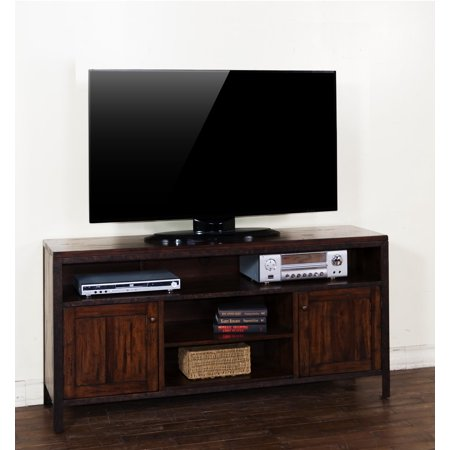 Sunny Designs Crosswinds TV Console In Weathered Mocha – (60 Inch)