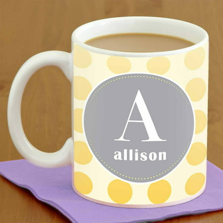 Personalized Polka Dot Coffee Mug, 15oz](Personalized Coffe Mugs)
