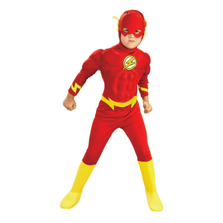 Rubies DC Comics Deluxe Muscle Chest The Flash Kids Costume