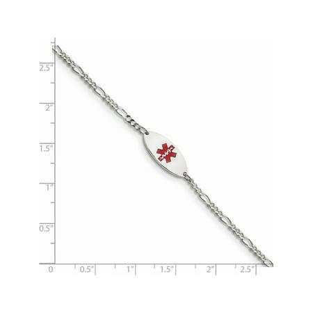 925 Sterling Silver Enameled Medical Jewelry Bracelet - image 2 of 2