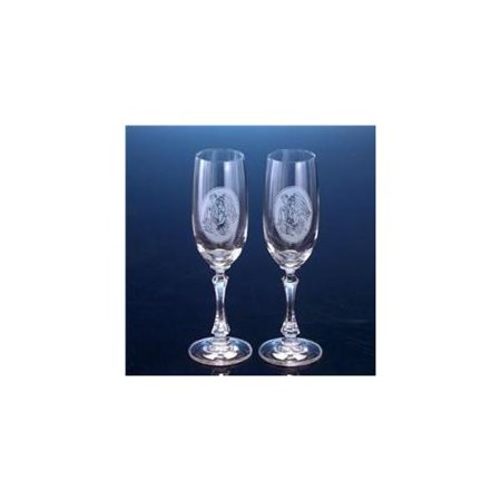 Bride & Groom Crystal Champagne Toasting Wedding Flutes in Gift Box ...