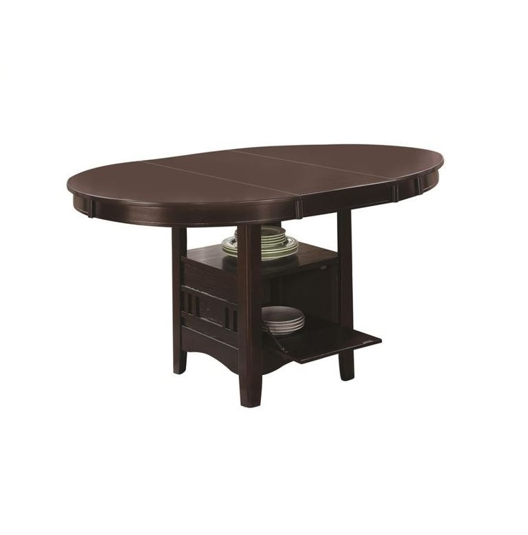 Coaster Lavon Dining Table with Storage in Espresso