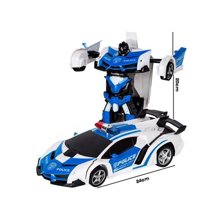 Kids Rechargeable Remote Control Deformation Car Robot Toy Caroj - image 6 of 6