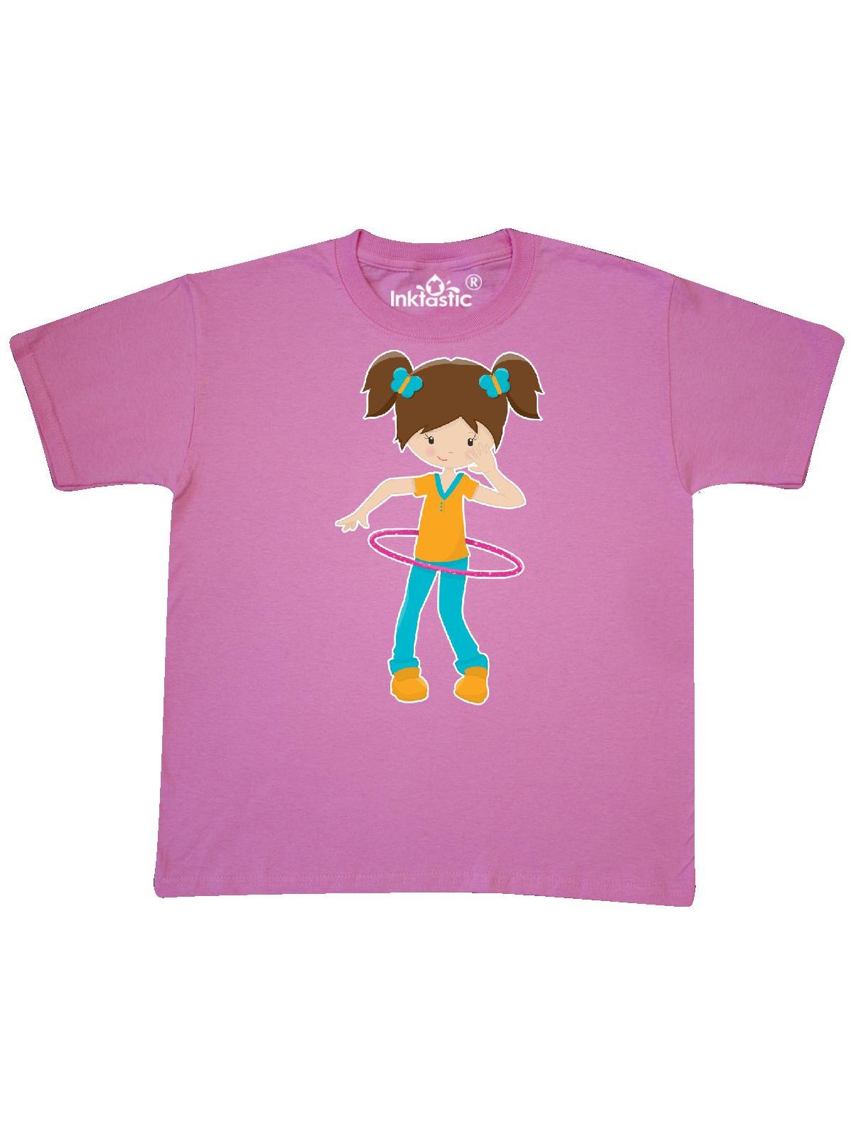 Brunette Hula Hooping Youth T-Shirt