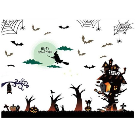 Ejoyous Self-Adhesive Wall Sticker Decal for Halloween Festival  Window Display Living Room Decoration, Living Room Wall Sticker, Wall Decal - Halloween Retail Window Display Ideas