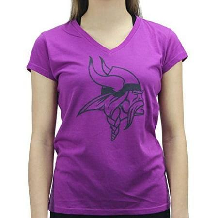 Alyssa Milano Women's Minnesota Vikings Football Club Purple T Shirt for $<!---->
